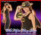 FANCY DRESS ~ BATGIRL HEN PARTY KIT HAT TOP CAPE BAG
